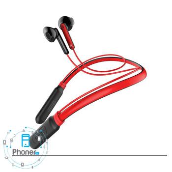 رنگ قرمز هندزفری بلوتوثی NGS16-01 Encok Neck Hung Wireless Earphone S16