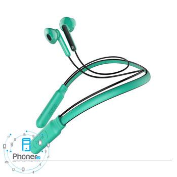 رنگ فیروزهای هندزفری بلوتوثی NGS16-01 Encok Neck Hung Wireless Earphone S16