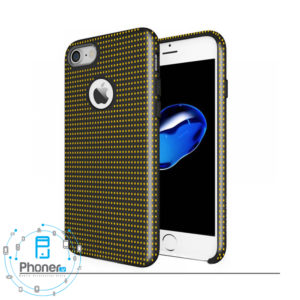 ASCMDYi7 Silicone Case Mesh Dot Yellow