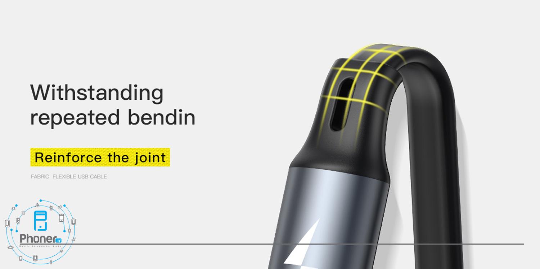 کانکتور های منعطف Baseus CAMLT-BYG1 Fabric 3-in-1 Flexible Cable