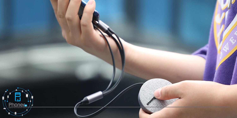 حمل راحت و آسان Baseus CAMLT-BYG1 Fabric 3-in-1 Flexible Cable