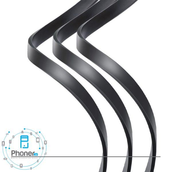 کابل فلت Baseus CAMLT-BYG1 Fabric 3-in-1 Flexible Cable