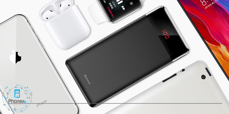 پاوربانک ۱۰۰۰۰ میلی آمپر ساعت Baseus PPALL-AKU01 Mini Digital Display Power Bank