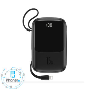 رنگ مشکی Baseus PPQD-B01 Power Bank Q pow Digital Display
