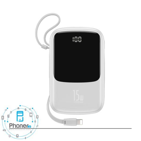 رنگ سفید Baseus PPQD-B01 Power Bank Q pow Digital Display