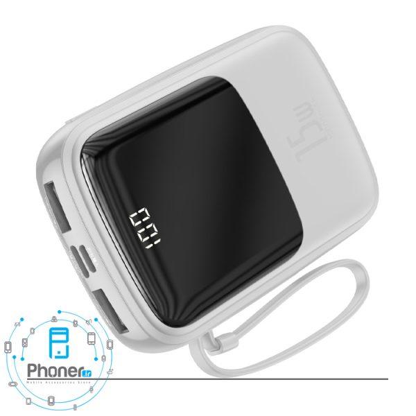 درگاه های شارژ رنگ سفید Baseus PPQD-B01 Power Bank Q pow Digital Display