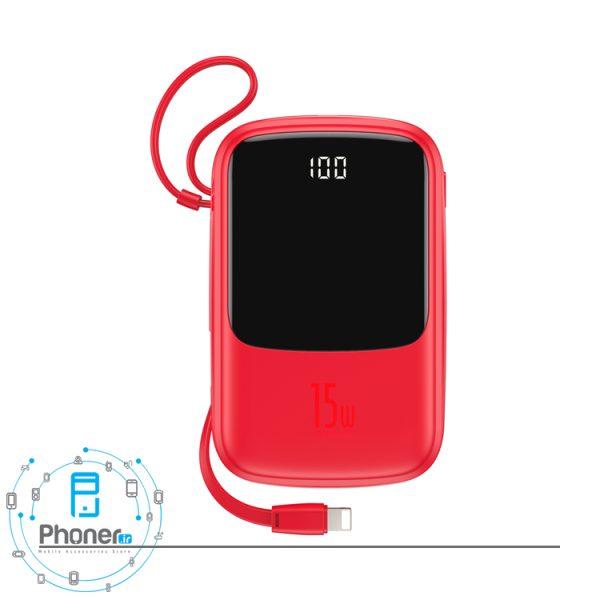 رنگ قرمز Baseus PPQD-B01 Power Bank Q pow Digital Display