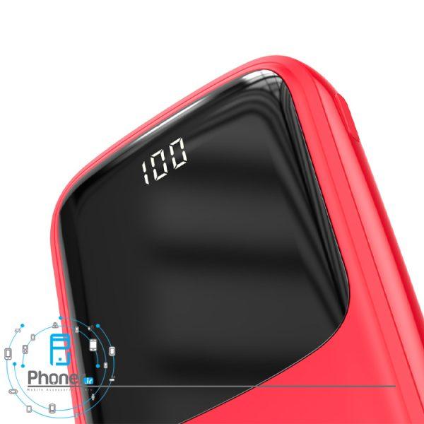 نمایشگر درصد شارژ رنگ قرمز Baseus PPQD-B01 Power Bank Q pow Digital Display
