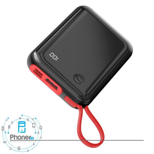 نمای درگاه های شارژ Baseus PPXF-A01 Mini S Digital Display Power Bank