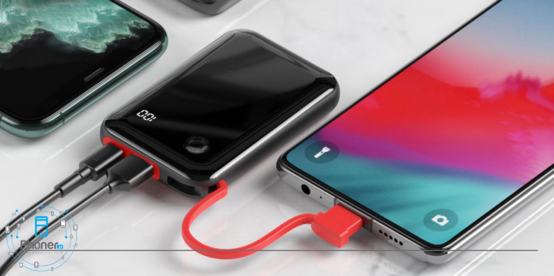 شارژ همزمان چند دستگاه با Baseus PPXF-A01 Mini S Digital Display Power Bank