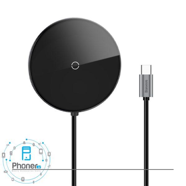نمای روبرو Baseus WXJMY-A0G Circular Mirror Wireless Charger And HDMI HUB