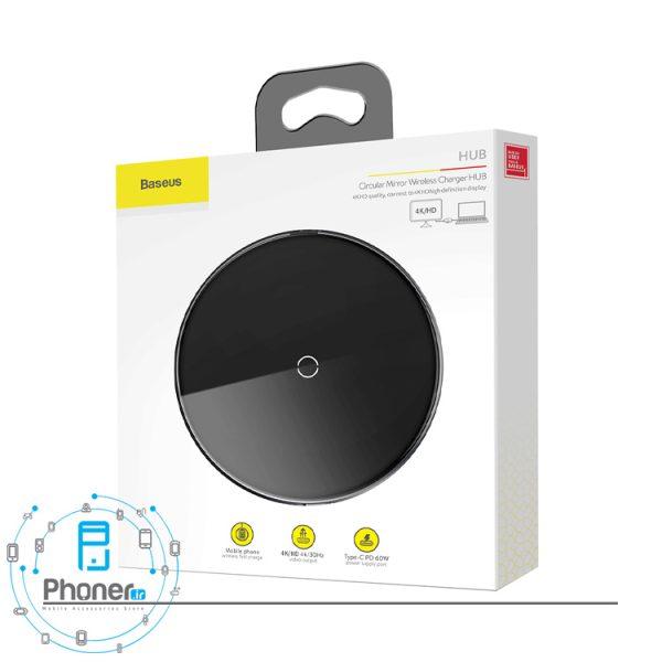 بسته بندی Baseus WXJMY-A0G Circular Mirror Wireless Charger And HDMI HUB