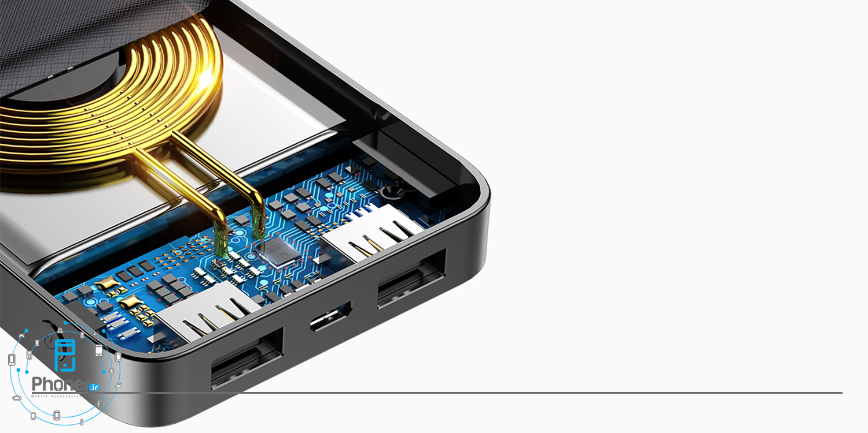 نمای داخلی Baseus PPALL-M3601 M36 Wireless Charger Powerbank
