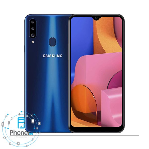 رنگ آبی گوشی موبایل Samsung Galaxy A20s