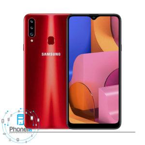 رنگ قرمز گوشی موبایل Samsung Galaxy A20s