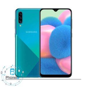 رنگ آبی گوشی موبایل Samsung Galaxy A30s