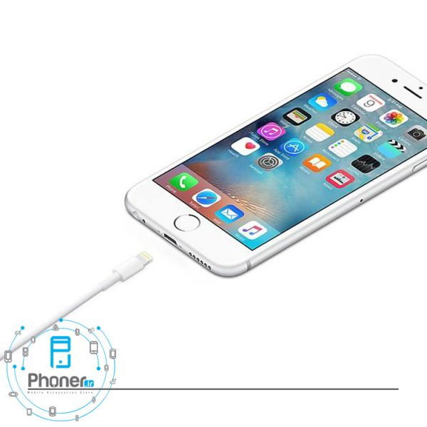 نمای کانکتور USB کابل MQUE2 Lightning to USB Cable