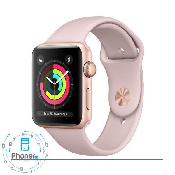 رنگ صورتی Apple Watch Series 3 42mm