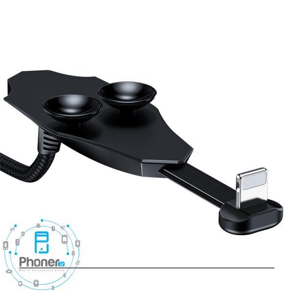 نمای پشت کانکتور Baseus CALXA-B01 Colorful Suction Mobile Game Data Cable