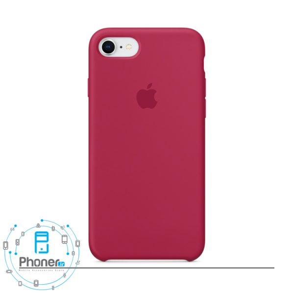رنگ Rose Red قاب محافظ Apple SCAIP78 Silicone Case