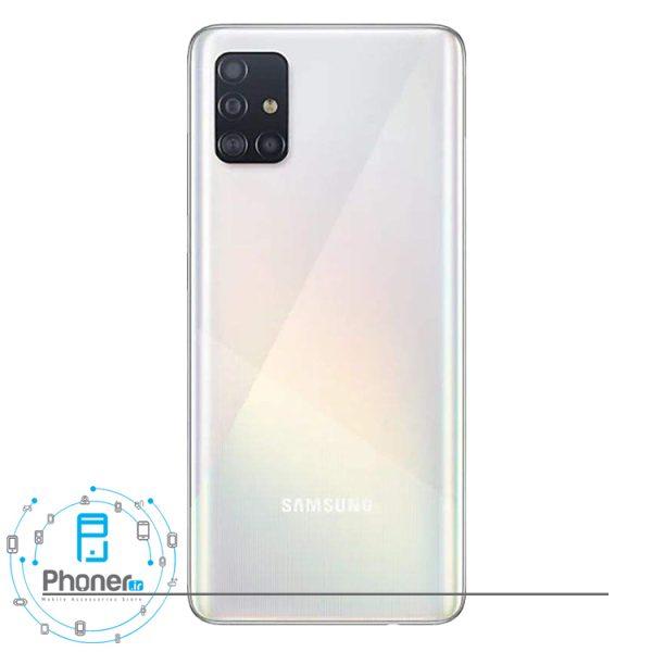 نمای کلی رنگ سفید گوشی Samsung Galaxy A51