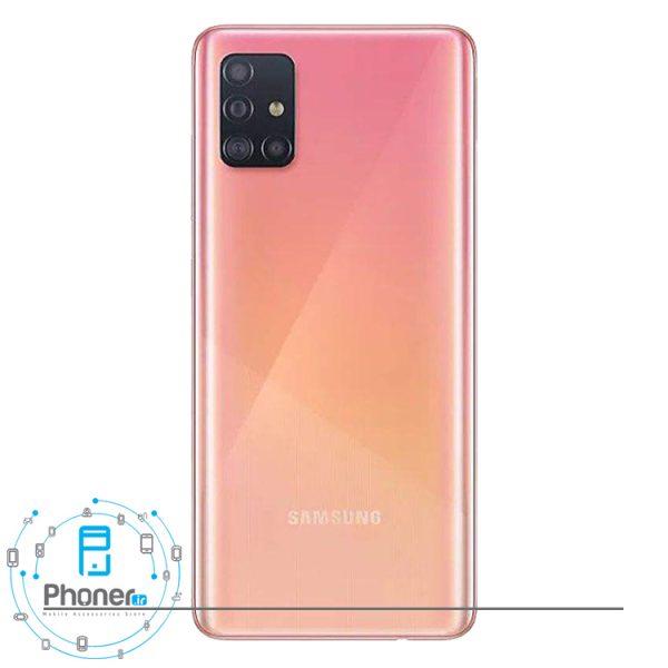 نمای کلی رنگ صورتی گوشی Samsung Galaxy A51