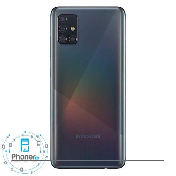نمای کلی رنگ مشکی گوشی Samsung Galaxy A51