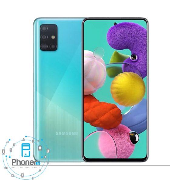 رنگ آبی گوشی Samsung Galaxy A51