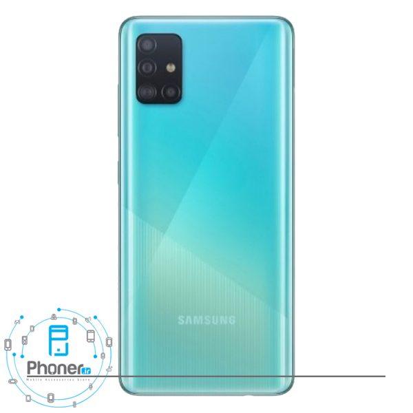 نمای کلی رنگ آبی گوشی Samsung Galaxy A51
