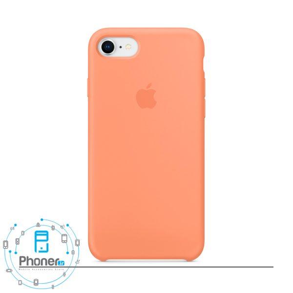 رنگ Peach Red قاب محافظ Apple SCAIP78 Silicone Case