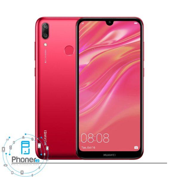 رنگ قرمز گوشی موبایل Huawei DUB-LX1 Y7 Prime 2019
