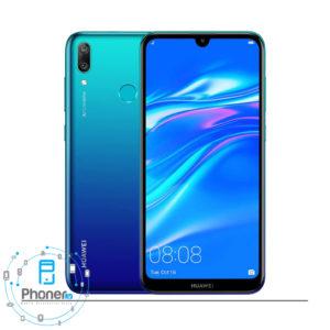 رنگ آبی گوشی موبایل Huawei DUB-LX1 Y7 Prime 2019