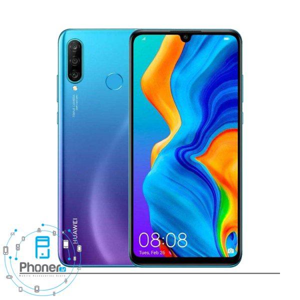 رنگ آبی گوشی موبایل Huawei MAR-LX1A P30 Lite