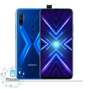 رنگ آبی گوشی موبایل Huawei STK-LX1 9X Honor 9X