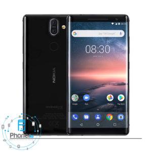 رنگ مشکی گوشی موبایل TA-1005SS Nokia 8 Sirocco
