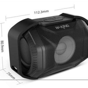 ابعاد اسپیکر بلوتوثی W-King S8 Outdoor WaterProof