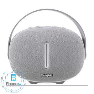 رنگ نقره ای اسپیکر بلوتوثی W-King T6 Intelligent Bluetooth Speaker