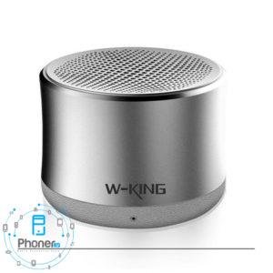 رنگ خاکستری اسپیکر بلوتوثی W-King W7 Portable Speaker