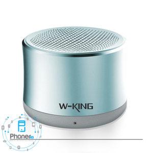 رنگ آبی اسپیکر بلوتوثی W-King W7 Portable Speaker
