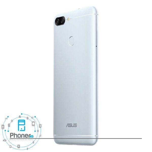 نمای کناری گوشی موبایل ASUS ZB570TL Zenfone Max Plus M1 رنگ نقره ای