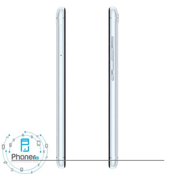 نمای کلیدهای کناری گوشی موبایل ASUS ZB570TL Zenfone Max Plus M1 رنگ نقره ای