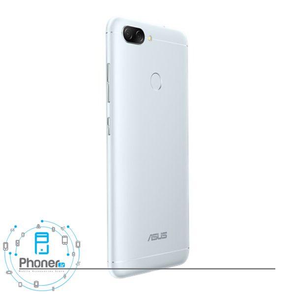 نمای کنار گوشی موبایل ASUS ZB570TL Zenfone Max Plus M1 رنگ نقره ای