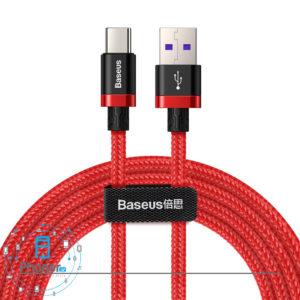 رنگ قرمز کابل Baseus CATZH-B09 HW Flash Charge Cable