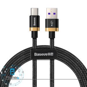 رنگ مشکی طلایی کابل Baseus HW Flash Charge Cable