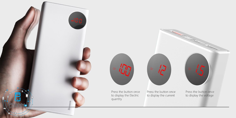 نمایشگر LED پاوربانک Baseus PPALL-MY01 Mulight Quick Charger
