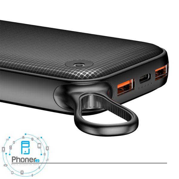 نمای درگاه های ورودی و خروجی پاوربانک PPKC-A02 Portable Battery