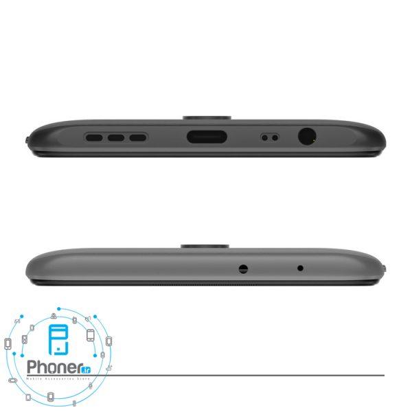 نمای بالا و پایین گوشی موبایل Xiaomi Redmi 9 رنگ مشکی