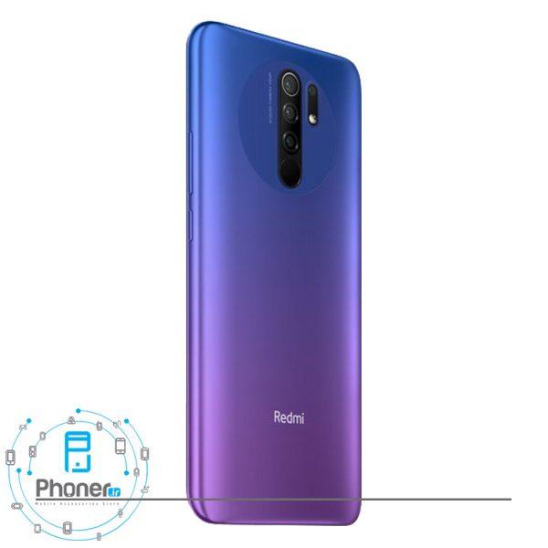 نمای پشت گوشی موبایل Xiaomi Redmi 9 رنگ آبی-بنفش