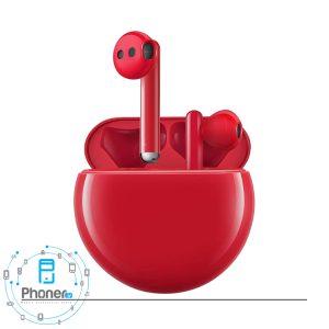 رنگ قرمز هندزفری بلوتوثی Huawei Freebuds 3