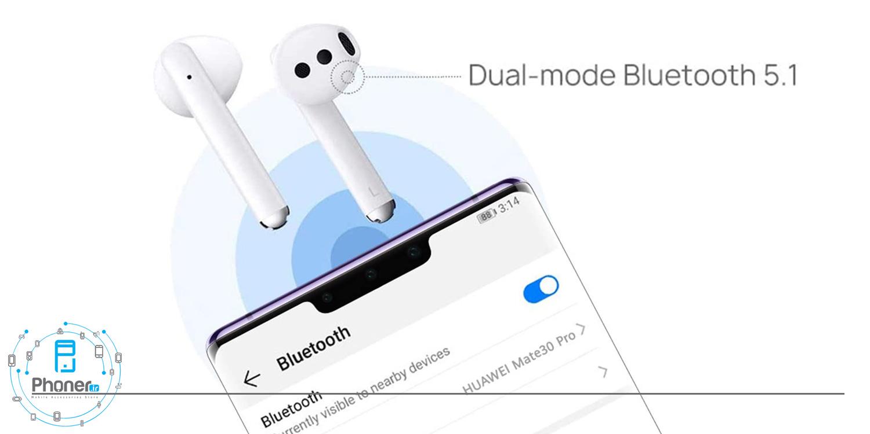 اتصال سریع هندزفری بلوتوثی Huawei Freebuds 3